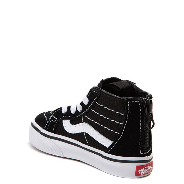 alternate image alternate view Vans Sk8 Hi Skate Shoe - Baby / Toddler - Black / WhiteALT2
