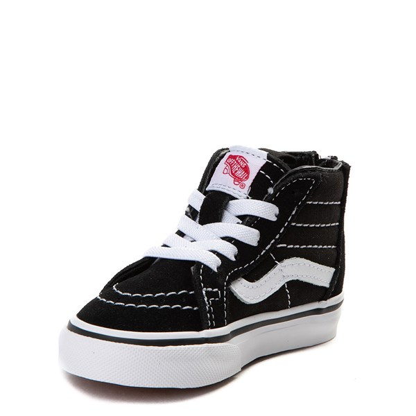 alternate image alternate view Vans Sk8 Hi Skate Shoe - Baby / Toddler - Black / WhiteALT3