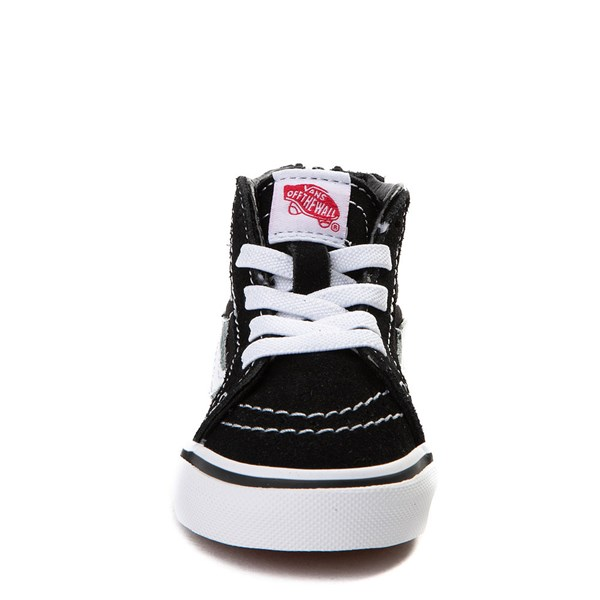 alternate image alternate view Vans Sk8 Hi Skate Shoe - Baby / Toddler - Black / WhiteALT4