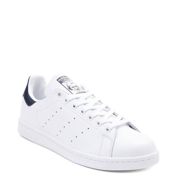 alternate image alternate view Mens adidas Stan Smith Athletic Shoe - White / NavyALT1