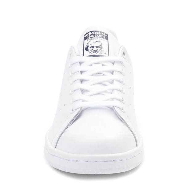 alternate image alternate view Mens adidas Stan Smith Athletic Shoe - White / NavyALT4