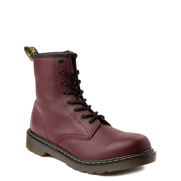 alternate image alternate view Dr. Martens 8-Eye Delaney Boot - Big Kid - CherryALT1