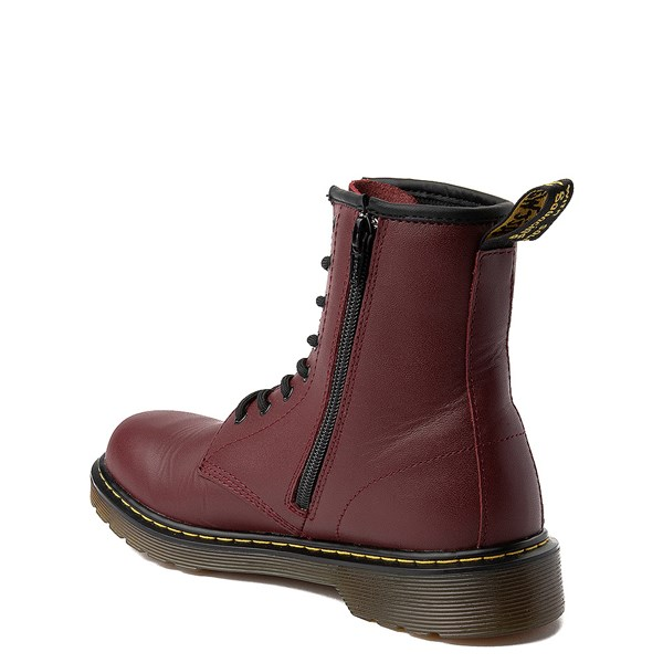 alternate image alternate view Dr. Martens 8-Eye Delaney Boot - Big Kid - CherryALT2