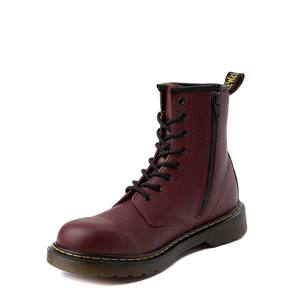 alternate image alternate view Dr. Martens 8-Eye Delaney Boot - Big Kid - CherryALT3