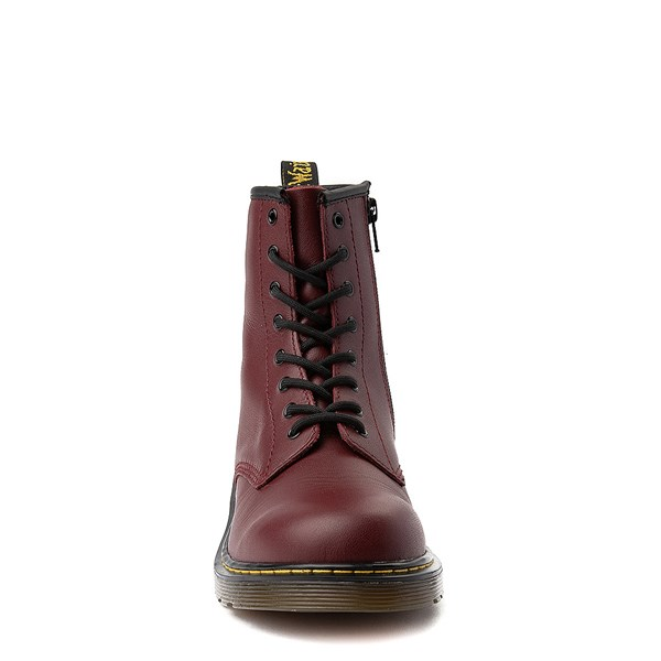 alternate image alternate view Dr. Martens 8-Eye Delaney Boot - Big Kid - CherryALT4