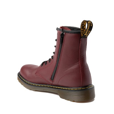 Alternate view of Dr. Martens 8-Eye Delaney Boot - Big Kid - Cherry