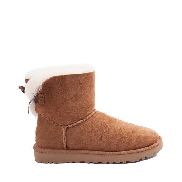 Womens UGG® Mini Bailey Bow II Boot - Chestnut