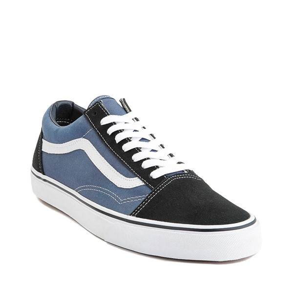 alternate image alternate view Vans Old Skool Skate Shoe - Navy / WhiteALT5