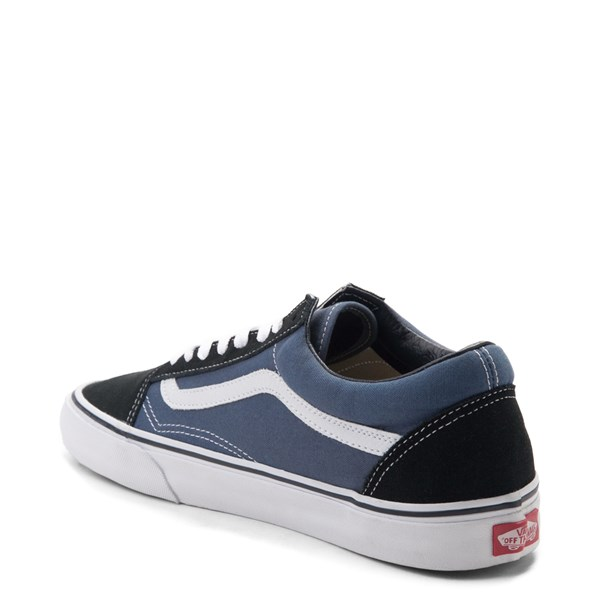 alternate image alternate view Vans Old Skool Skate Shoe - Navy / WhiteALT2