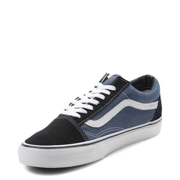 alternate image alternate view Vans Old Skool Skate Shoe - Navy / WhiteALT3