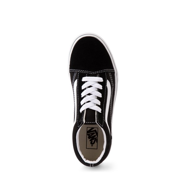 alternate image alternate view Vans Old Skool Skate Shoe - Little Kid / Big Kid - Black / WhiteALT2