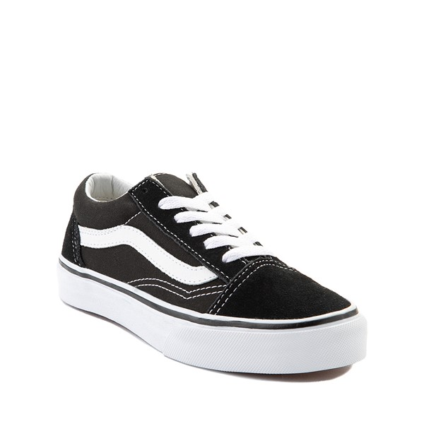 alternate image alternate view Vans Old Skool Skate Shoe - Little Kid / Big Kid - Black / WhiteALT5