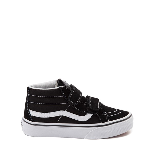 Main view of Vans Sk8 Hi Skate Shoe - Little Kid / Big Kid - Black / White