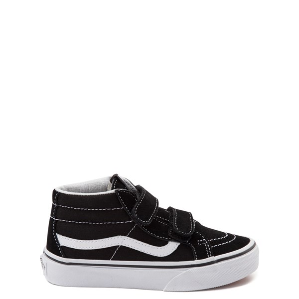 Main view of Vans Sk8 Hi Skate Shoe - Little Kid / Big Kid - Black / White