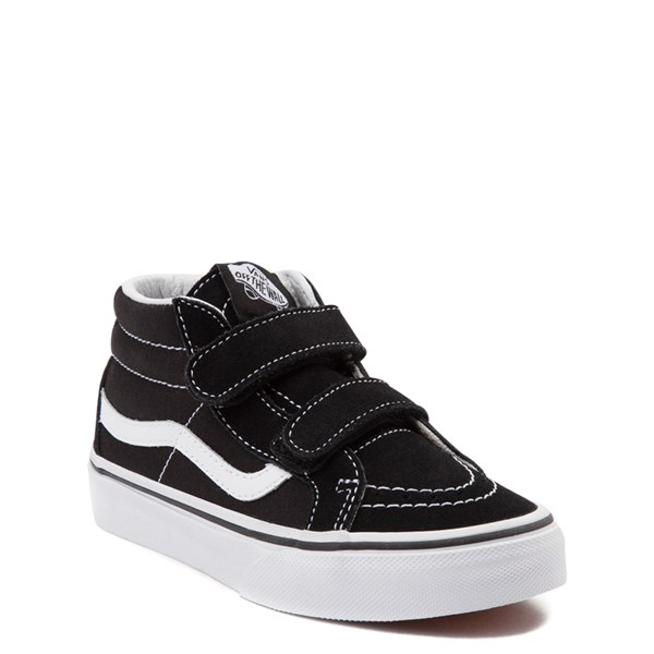 alternate image alternate view Vans Sk8 Hi Skate Shoe - Little Kid / Big Kid - Black / WhiteALT1