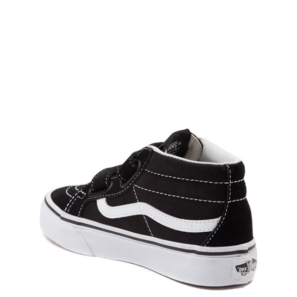 alternate image alternate view Vans Sk8 Hi Skate Shoe - Little Kid / Big Kid - Black / WhiteALT2