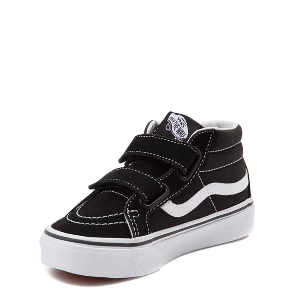alternate image alternate view Vans Sk8 Hi Skate Shoe - Little Kid / Big Kid - Black / WhiteALT3