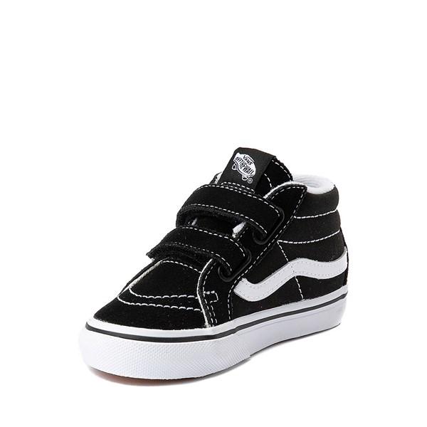 alternate image alternate view Vans Sk8 Mid V Skate Shoe - Baby / Toddler - Black / WhiteALT2