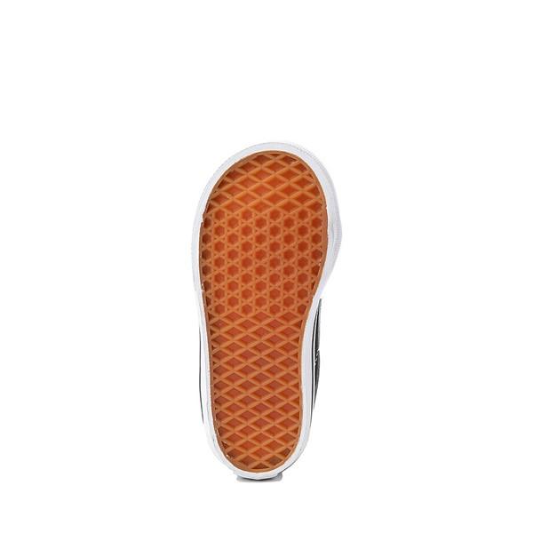 alternate image alternate view Vans Sk8 Mid V Skate Shoe - Baby / Toddler - Black / WhiteALT3