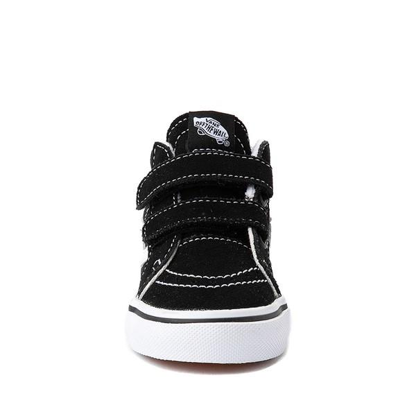 alternate image alternate view Vans Sk8 Mid V Skate Shoe - Baby / Toddler - Black / WhiteALT4