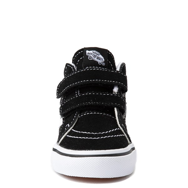 alternate image alternate view Vans Sk8 Mid V Skate Shoe - Baby / Toddler - Black / WhiteALT4