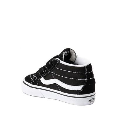 Alternate view of Vans Sk8 Mid V Skate Shoe - Baby / Toddler - Black / White