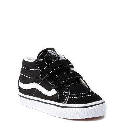 Alternate view of Vans Sk8 Mid V Skate Shoe - Baby / Toddler - Black / White