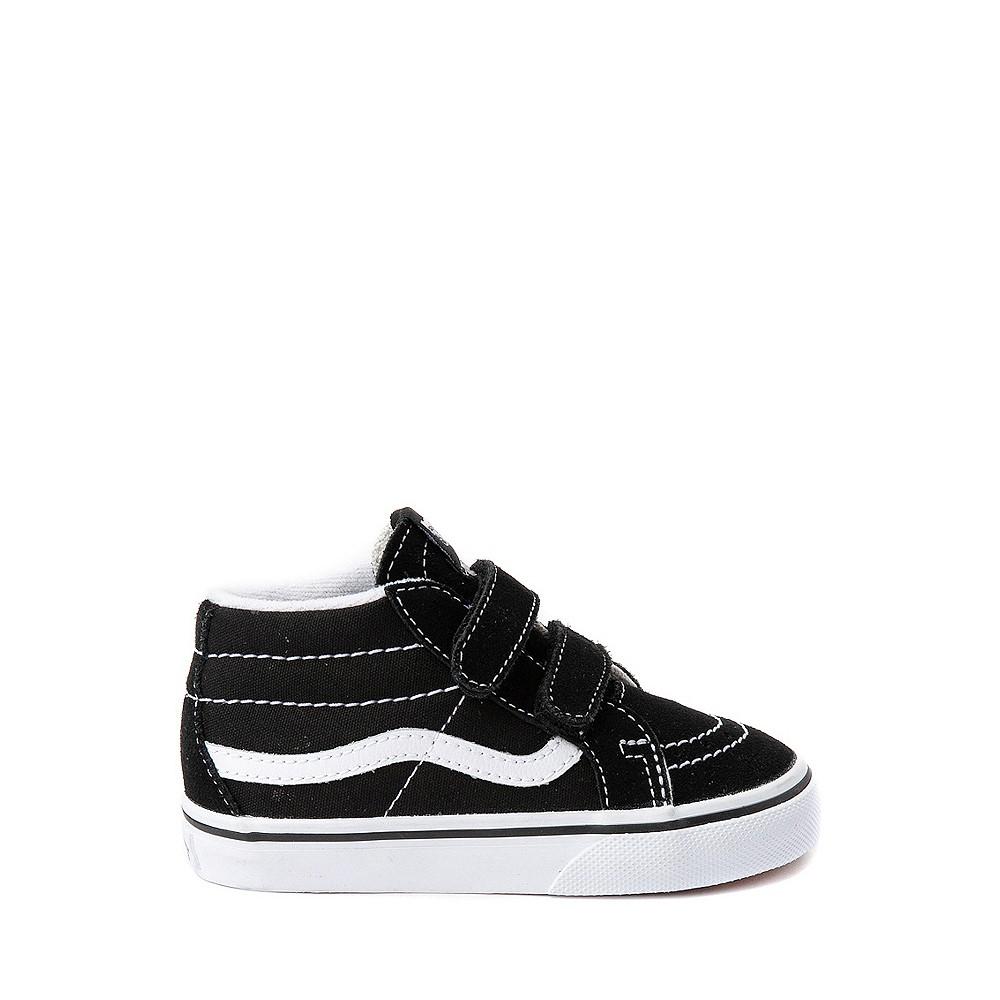 Vans Sk8 Mid V Skate Shoe - Baby / Toddler - Black / White
