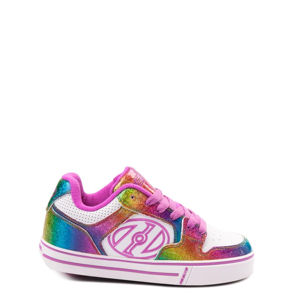 Heelys Motion Rainbow Skate Shoe - Little Kid / Big Kid - White / Rainbow