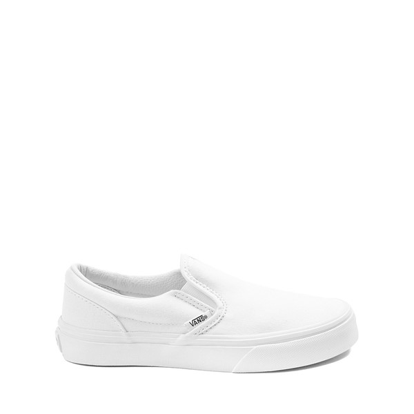 Main view of Vans Slip On Skate Shoe - Little Kid / Big Kid - White