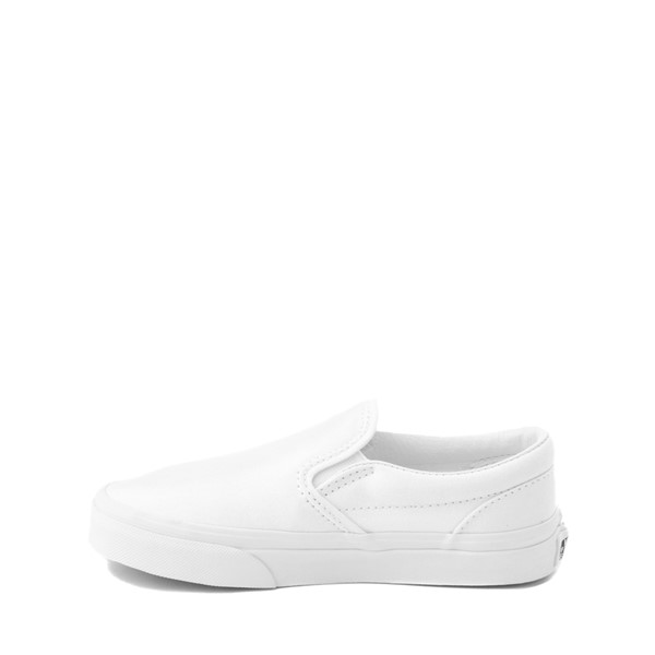 alternate image alternate view Vans Slip On Skate Shoe - Little Kid / Big Kid - WhiteALT1