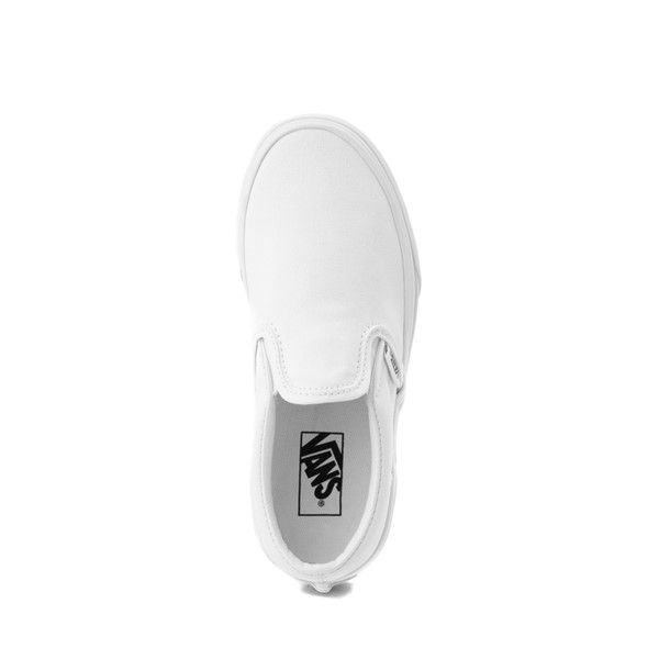 alternate image alternate view Vans Slip On Skate Shoe - Little Kid / Big Kid - WhiteALT2