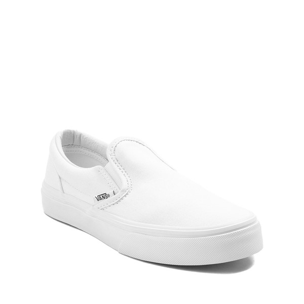 alternate image alternate view Vans Slip On Skate Shoe - Little Kid / Big Kid - WhiteALT5