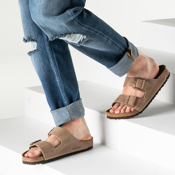 alternate image alternate view Mens Birkenstock Arizona Soft Footbed Sandal - TobaccoB-LIFESTYLE1