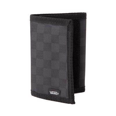 Alternate view of Vans Slipped Tri-Fold Checkerboard Wallet - Black / Grey