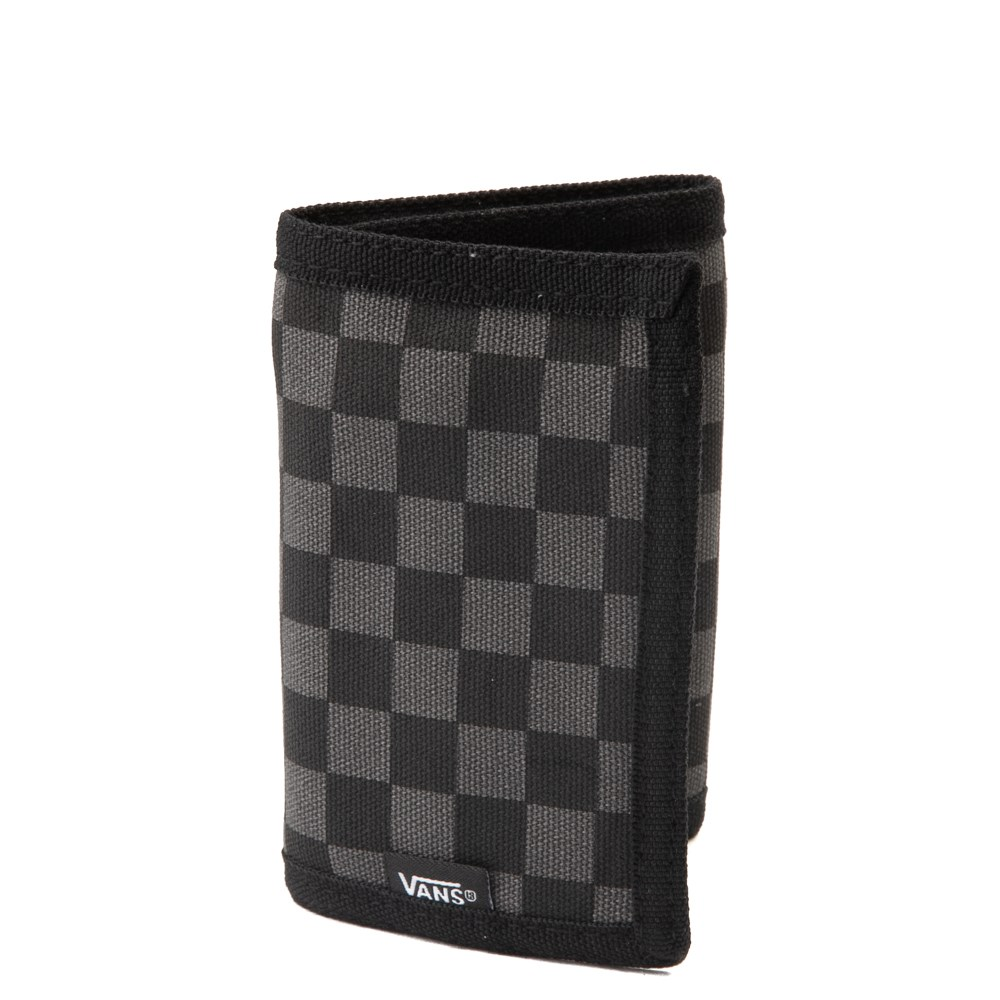 Vans Slipped Tri-Fold Checkerboard Wallet - Black / Grey