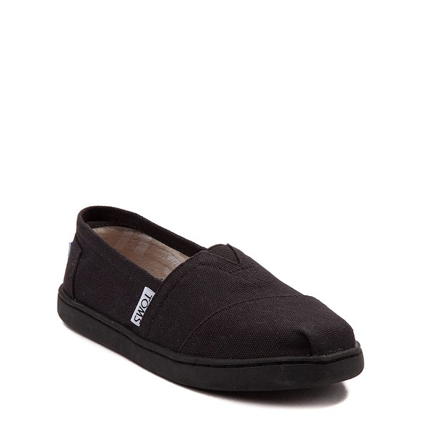 alternate image alternate view TOMS Classic Slip On Casual Shoe - Little Kid / Big Kid - BlackALT1