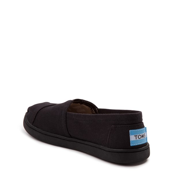 alternate image alternate view TOMS Classic Slip On Casual Shoe - Little Kid / Big Kid - BlackALT2