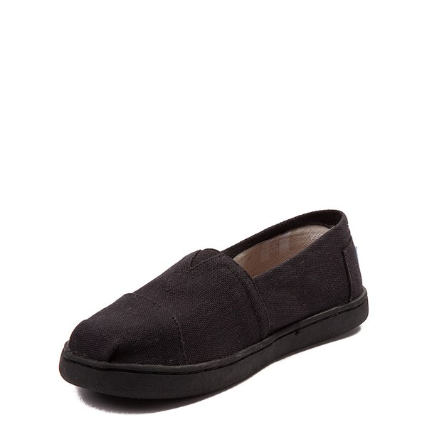 alternate image alternate view TOMS Classic Slip On Casual Shoe - Little Kid / Big Kid - BlackALT3