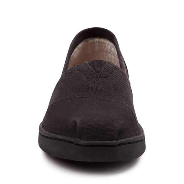 alternate image alternate view TOMS Classic Slip On Casual Shoe - Little Kid / Big Kid - BlackALT4