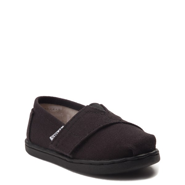 alternate image alternate view TOMS Classic Slip On Casual Shoe - Baby / Toddler / Little Kid - BlackALT1