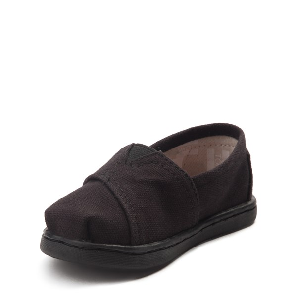 alternate image alternate view TOMS Classic Slip On Casual Shoe - Baby / Toddler / Little Kid - BlackALT3