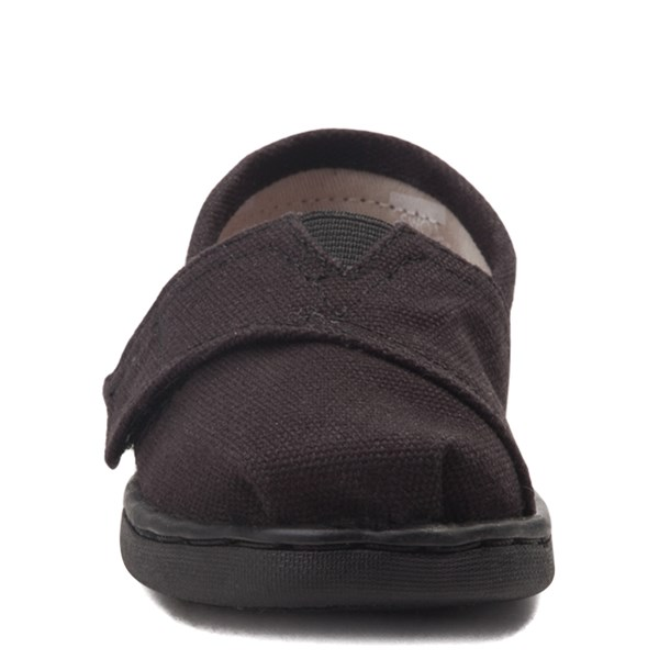 alternate image alternate view TOMS Classic Slip On Casual Shoe - Baby / Toddler / Little Kid - BlackALT4