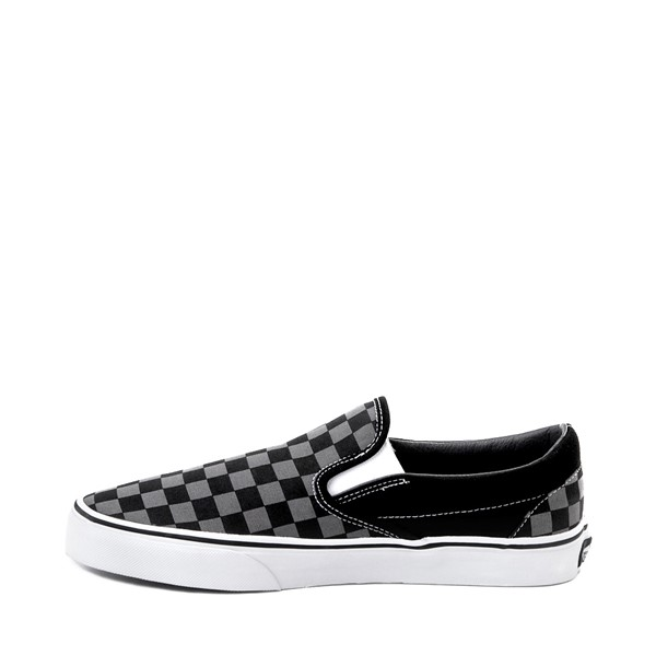 alternate image alternate view Vans Slip On Chex Skate Shoe - Grey / BlackALT1