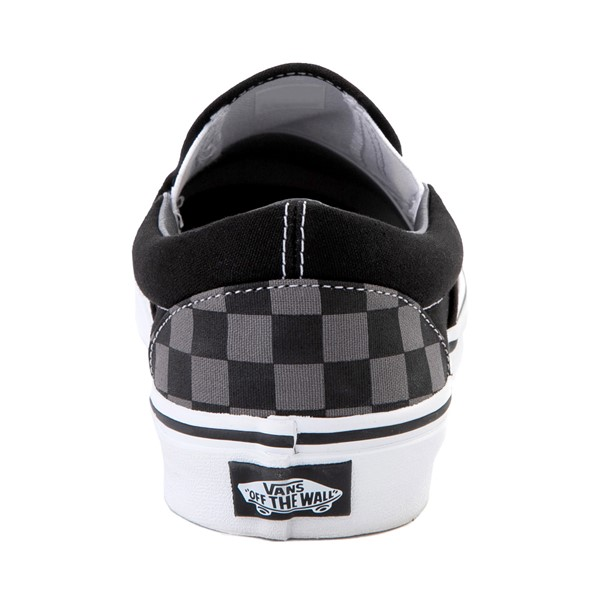 alternate image alternate view Vans Slip On Chex Skate Shoe - Grey / BlackALT4