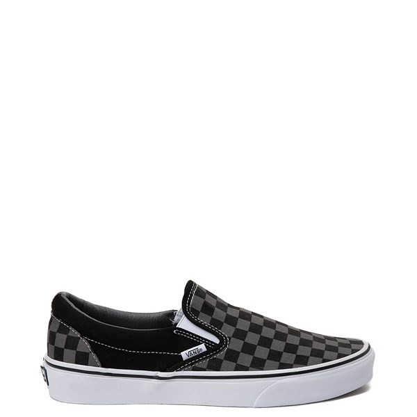 Vans Slip On Chex Skate Shoe - Grey / Black