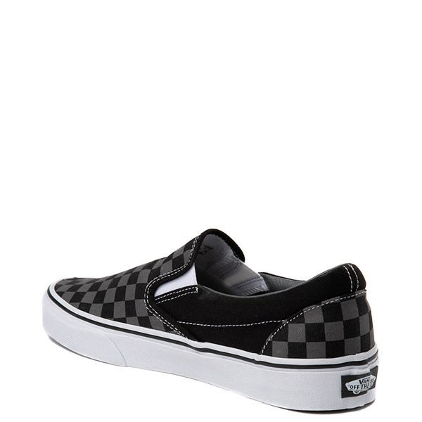 alternate image alternate view Vans Slip On Chex Skate Shoe - Grey / BlackALT3
