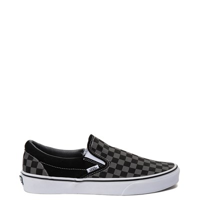 Main view of Vans Slip On Chex Skate Shoe - Grey / Black
