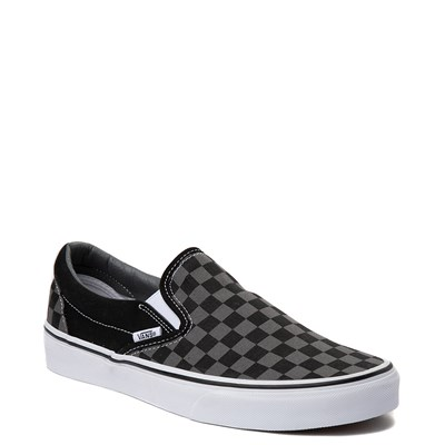 Alternate view of Vans Slip On Chex Skate Shoe - Grey / Black