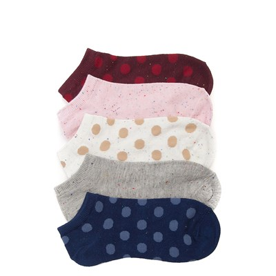 Main view of Womens Polka Dots Low Cut Socks 5 Pack